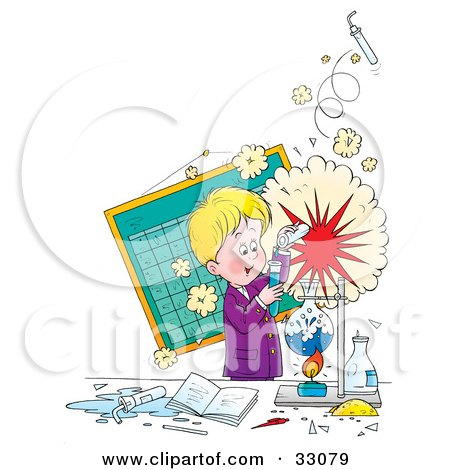 Royalty Free Rf Science Experiment Clipart
