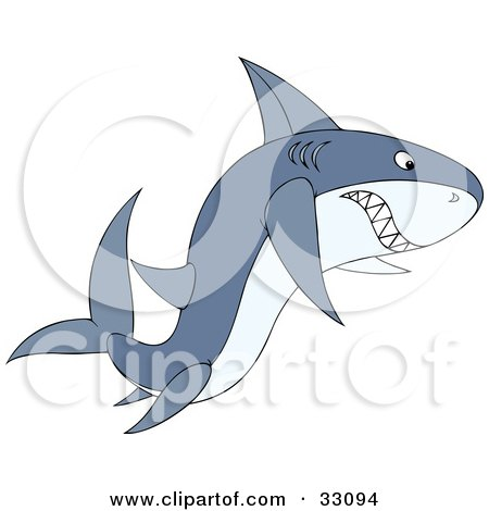 Angry shark clipart - photo#28