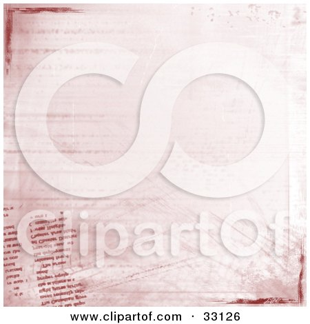 Clipart Illustration of a Grunge Background Of Bold And Faded Text, Grunge Marks And Scratches by elaineitalia