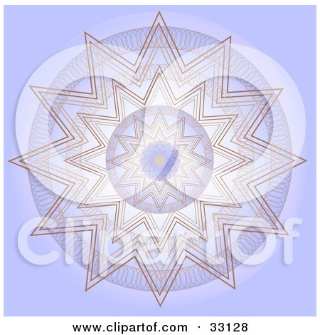 Clipart Illustration of a Repetitive Purple And Brown Kaleidoscope Background Pattern by elaineitalia