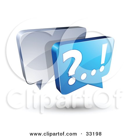 Clipart Illustration of Silver And Blue Live Chat Messenger Windows by beboy