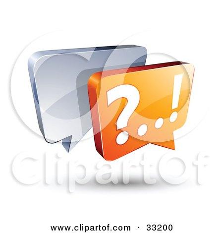 Clipart Illustration of Silver And Orange Live Chat Messenger Windows by beboy