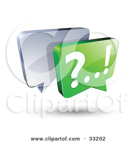 Clipart Illustration of Silver And Green Live Chat Messenger Windows by beboy