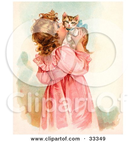 Clipart Illustration Of A Little Victorian Girl In A