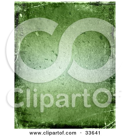 Clipart Illustation of a Green Grungy Textured Background With Bumps And Scratches by KJ Pargeter