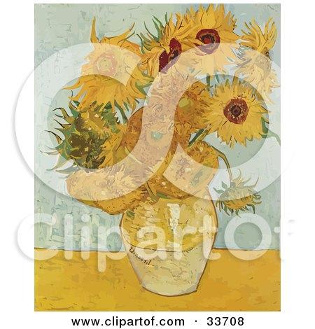 Vase Full Of Sunflowers, Original By Vincent Van Gogh Posters, Art Prints