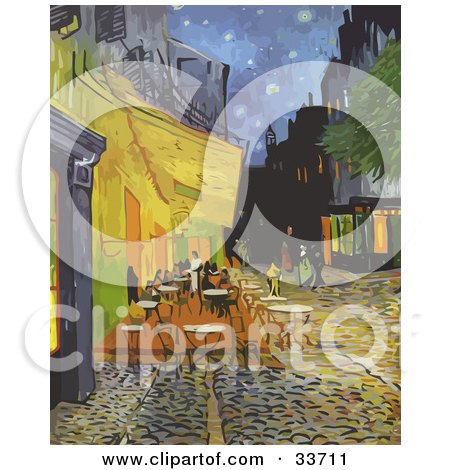 The Cafe Terrace At Night On The Place Du Forum, In Arles, France Posters, Art Prints