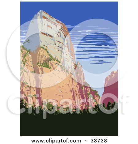 Zion canyon clipart - Clipground  |Clipart National Park Utah