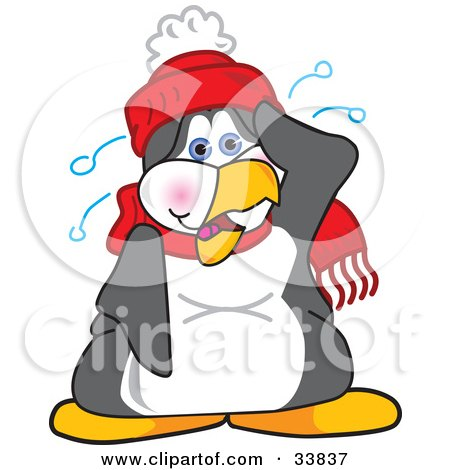 Clipart Illustration of a Happy Penguin Mascot Cartoon ...