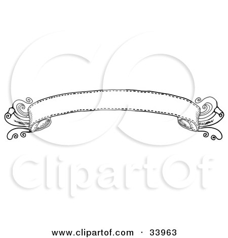 Clipart Illustration of an Elegant Black And White Banner by C Charley-Franzwa