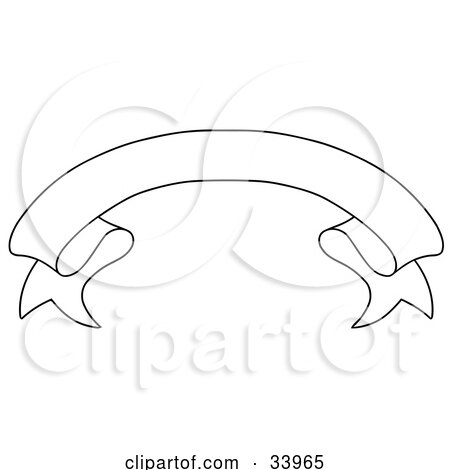 Clipart Illustration of a Black And White Arched Banner With Space For Text by C Charley-Franzwa