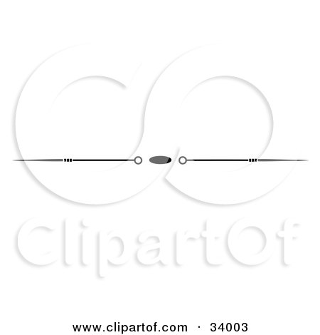 Clipart Illustration of a Black And White Oval, Spike And Circle Header, Divider, Banner Or Lower Back Tattoo Design by C Charley-Franzwa