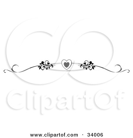 Tribal Heart With Banner Black Tribal Tr...