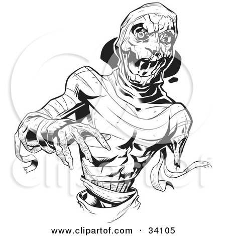 Scary Mummy With Loose Bandages, Reaching Forward Posters, Art Prints
