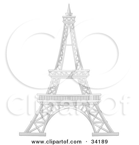 Eiffel Tower Colouring Picture on Royalty Free Eiffel Tower Illustrations By Alex Bannykh Page 1