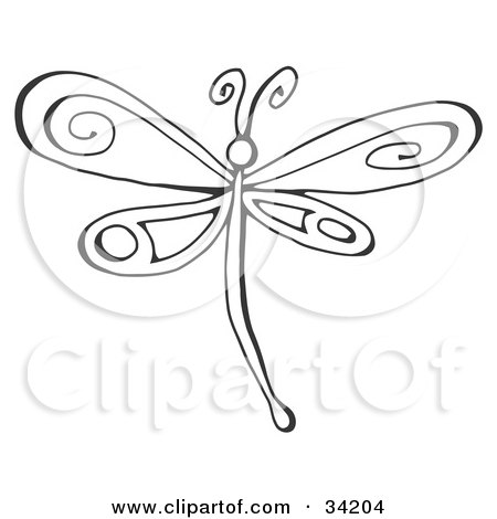 pretty tattoo designs on ... Dragonfly With Pretty Designs On Its Wings by C Charley-Franzwa #34204