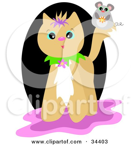 cute black and pink backgrounds. Clipart Illustration of a Cute