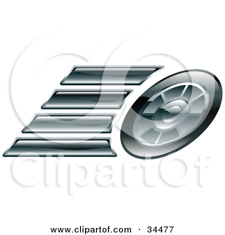 Clipart Illustration of a Race Car's Tire by AtStockIllustration