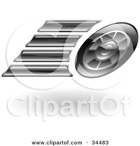 Clipart Illustration of a Fast Car's Tires Speeding Past by AtStockIllustration