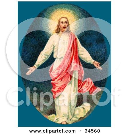 Clipart Illustration of Jesus Christ resurrected by OldPixels
