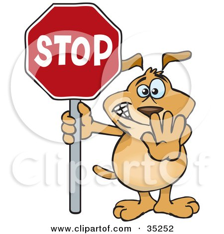 Royalty-Free (RF) Stop Sign Clipart, Illustrations, Vector Graphics #1