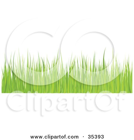 Clipart Illustration of a Border Of Green Blades Of Grass by KJ Pargeter
