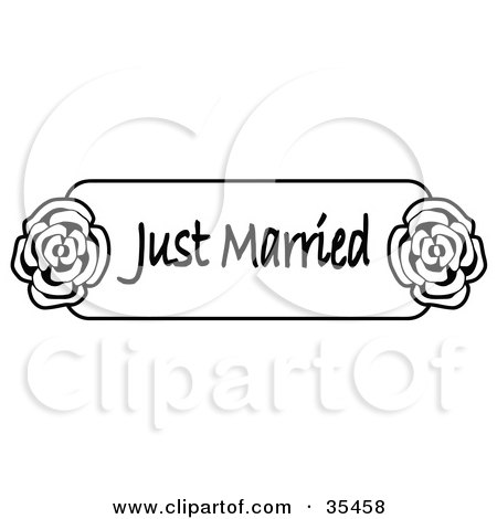 Clipart Illustration of Two Wedding Bands Resting On A ...