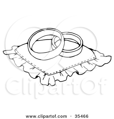 Clipart Illustration of Two Flying Doves With A Ribbon ...