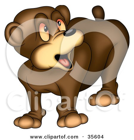 Clipart Illustration of a Confused or Surprised Bear by dero