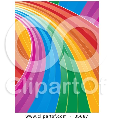 Curving Rainbow Road Leading To The Left Posters, Art Prints