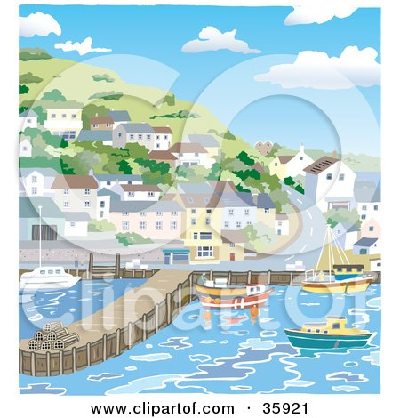 Royalty Free Rf Harbour Clipart Illustrations Vector