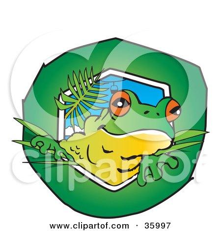 tree frog tattoo. a Cute Tree Frog Peeking