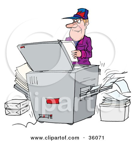 Clipart Office Photocopier Machine Royalty Free Vector