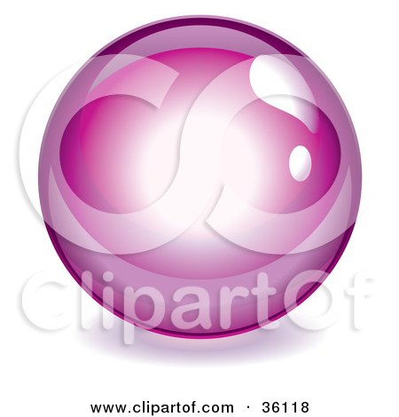 Magenta Reflective Crystal Ball, Marble Or Orb Posters, Art Prints