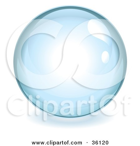 Pale Blue Reflective Crystal Ball, Marble Or Orb Posters, Art Prints