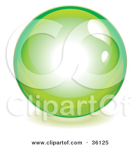 Lime Green Reflective Crystal Ball, Marble Or Orb Posters, Art Prints