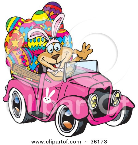 Clipart Illustration Of A Crazy Teen Girl Running Over A