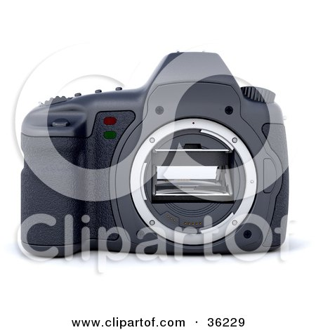 Clipart Illustration of a Camera Body Without A Lens by KJ Pargeter