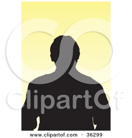 Clipart Illustration of an Avatar Of A Silhouetted Man by KJ Pargeter