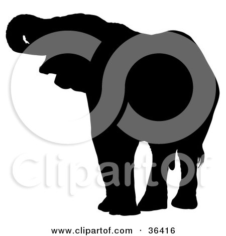 Royalty Free Rf Elephant Silhouette Clipart