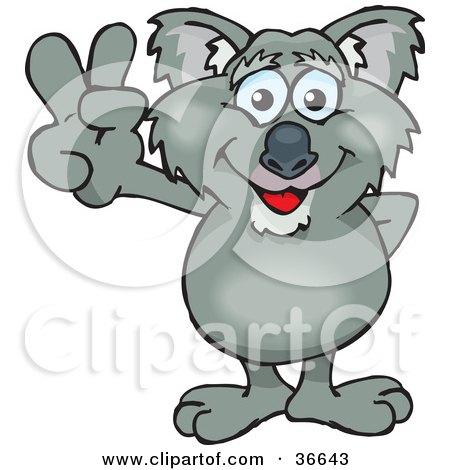Royalty Free RF Koala Clipart Illustrations Vector Graphics 1