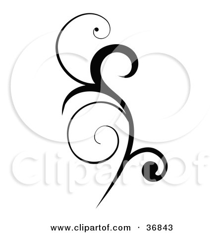 Royalty Free Stock Illustrations of Scrolls by ...  Vertical Scrolls Clipart
