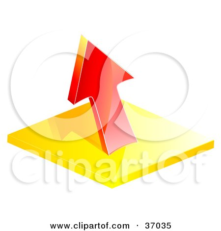 Clipart Illustration Of A Red Loss Arrow Pointing Up By Elaineitalia