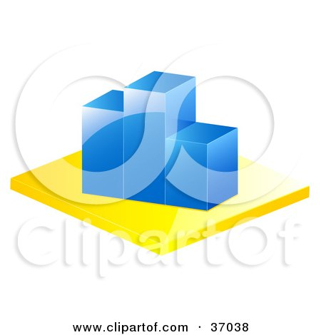 Clipart Illustration of a Blue Bar Graph Depicting Loss And Decrease by elaineitalia