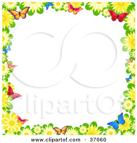 Royalty-Free (RF) Butterfly Border Clipart, Illustrations, Vector ...