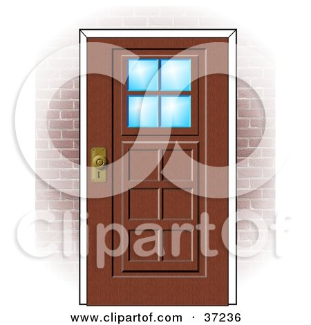 brick house clipart. Red Brick House Clipart by