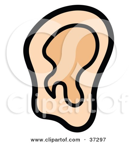clipart retro businessman cupping his ear black and white. Black Bedroom Furniture Sets. Home Design Ideas