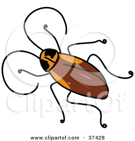 Flying Roaches Clip Art