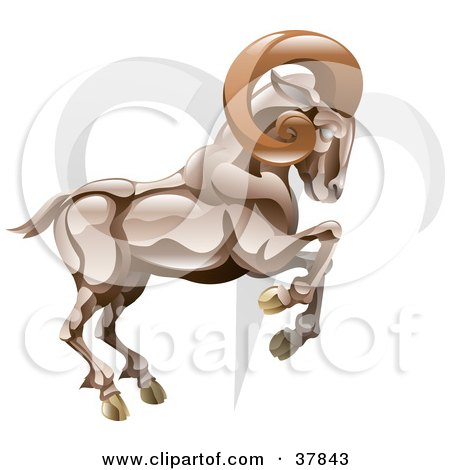 Royalty-free astrology clipart picture of Aries the ram with the zodiac