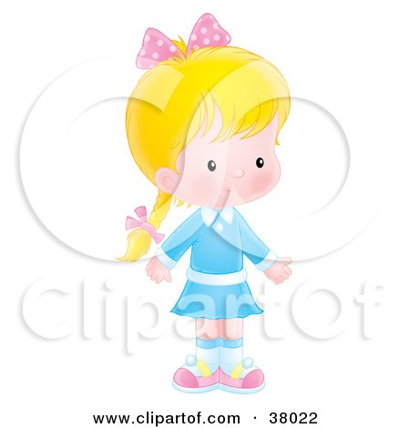 Shy Little Girl Royalty-Free Stock Photography